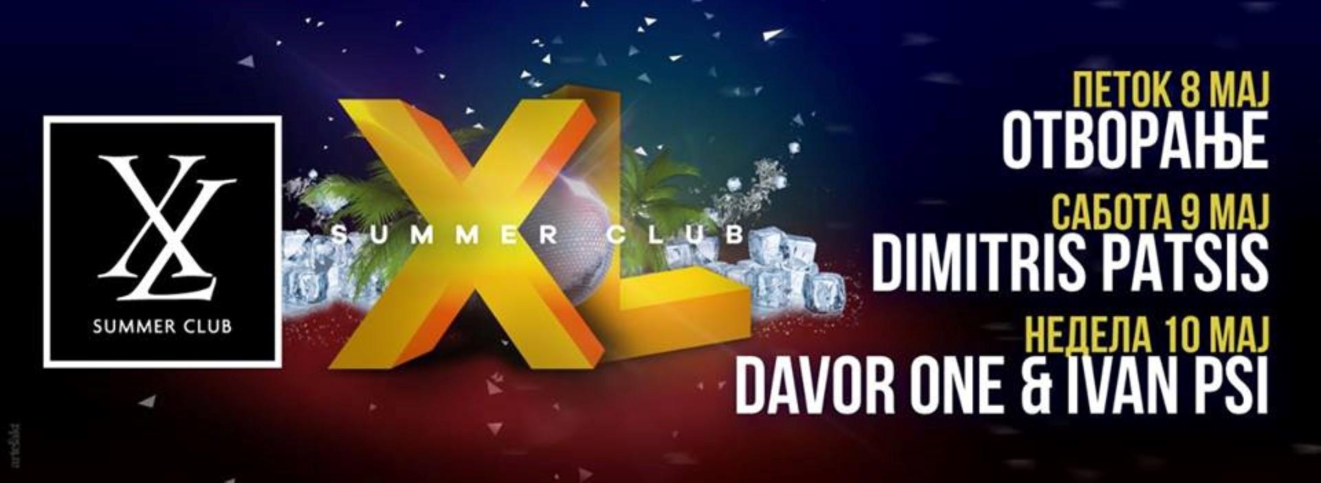 Вечерва спектакуларно отворање на летниот клуб XL во Градски парк