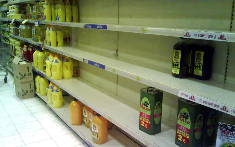 Грчките супермаркети очекуваат недостиг на храна од следната недела