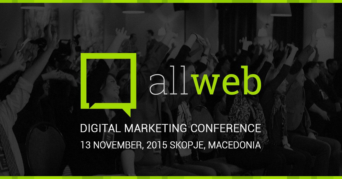 Четврта по ред AllWeb конференција посветена на дигиталниот маркетинг во Македонија