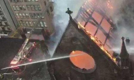 Силен пожар избувна во српска православна црква во Њујорк