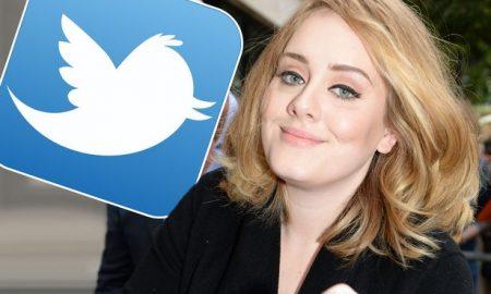 Адел откри дека има таен профил на Твитер