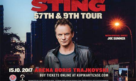 Влезниците за концертот на Стинг од утре во продажба