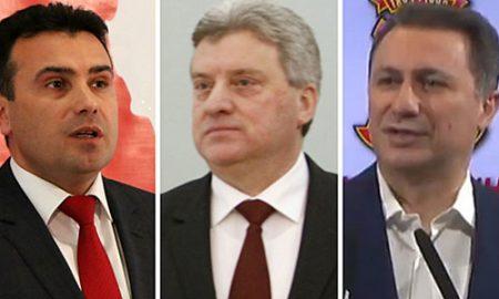 Заев и Груевски на средба кај Иванов