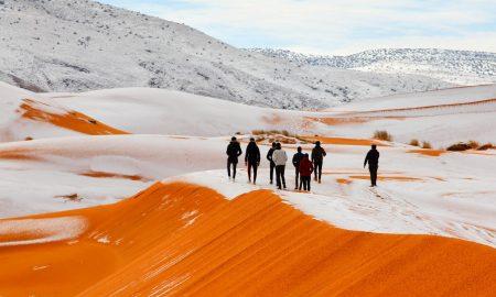 Снег падна во пустината Сахара втора година по ред