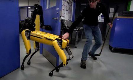 Човек се обиде да го спречи, но роботот ја исполни својата цел (ВИДЕО)