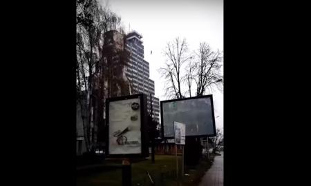Кој лебдеше денеска во Скопје над зградата на МРТВ? (ВИДЕО)