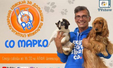 """""""Пет за пет"""" - нова емисија за домашни миленици со Марко на Алфа"""