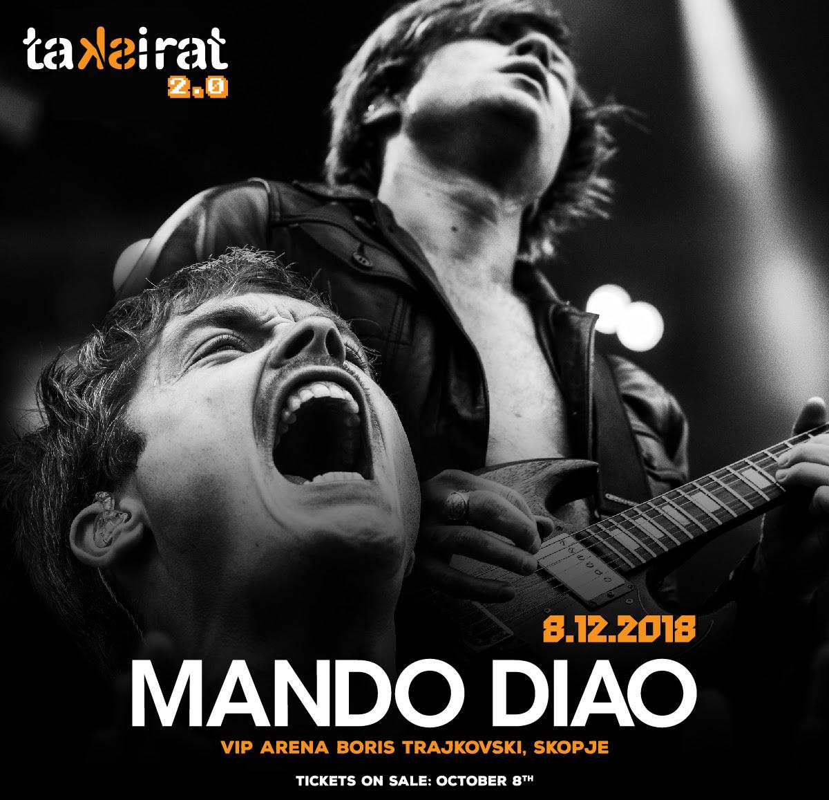ТАКСИРАТ ПОТВРДУВА: Mando Diao прв пат во Скопје!